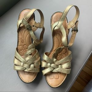Born gold sandals